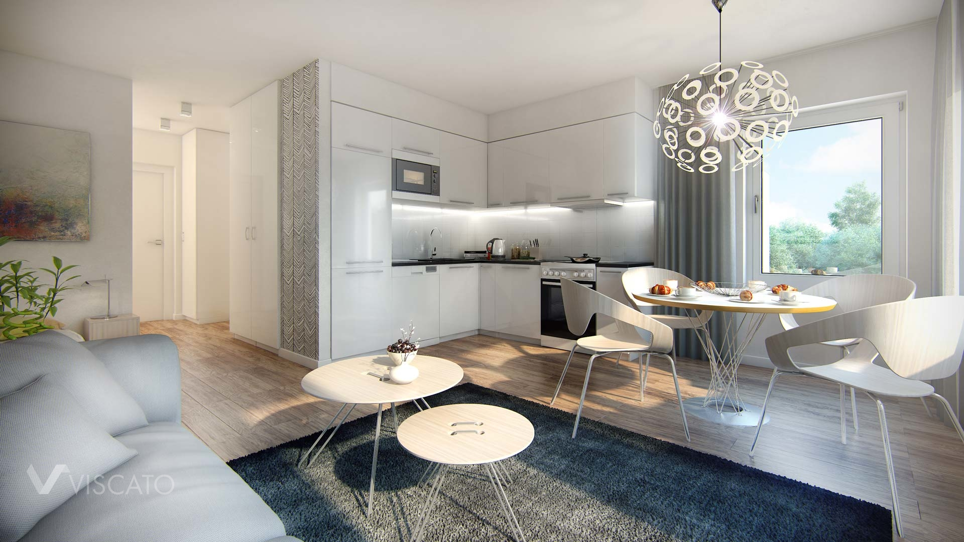 Scandinavian apartment 3d model viscato for Apartment 3d
