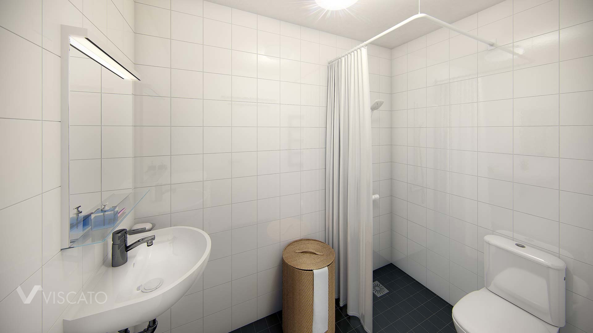 Bathroom - scandinavian apartment