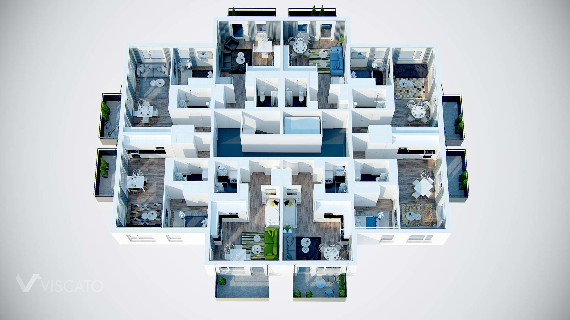 Floor plan of multi-familly housing located in sweden