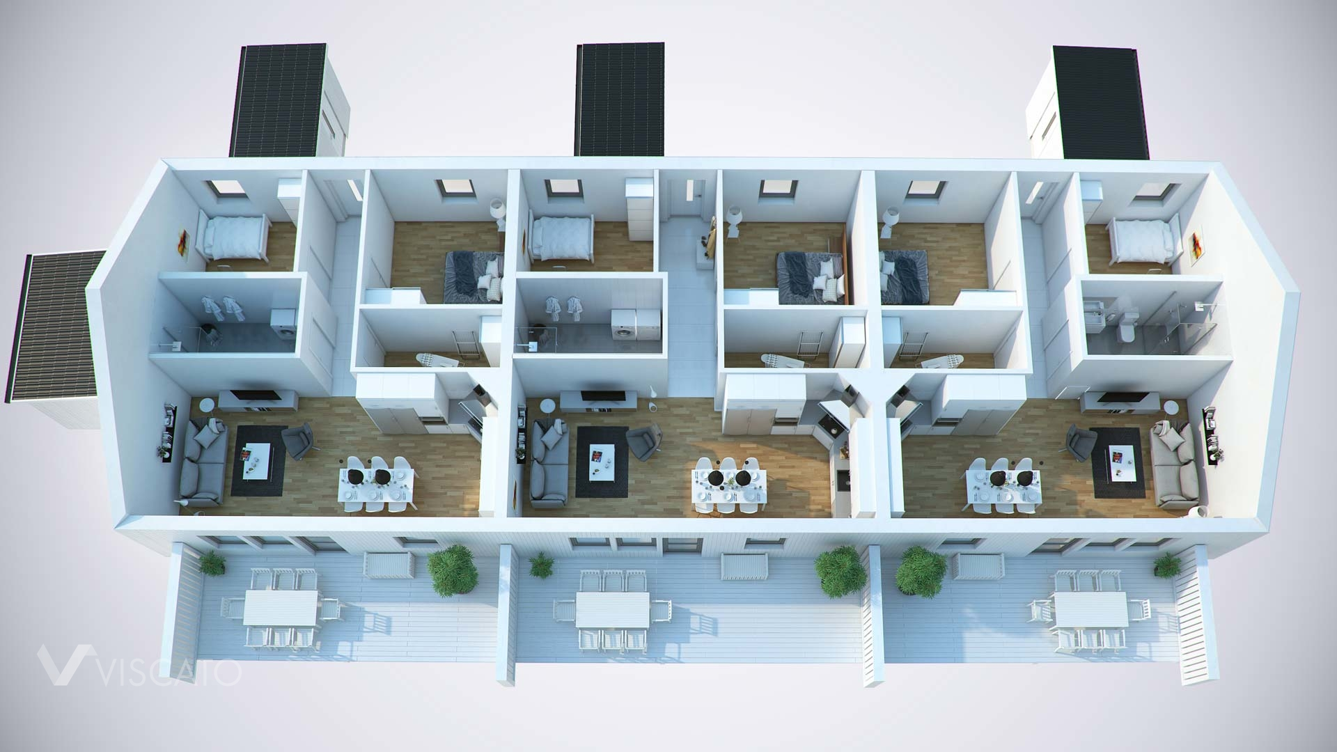 3D visualisation of a floor plan