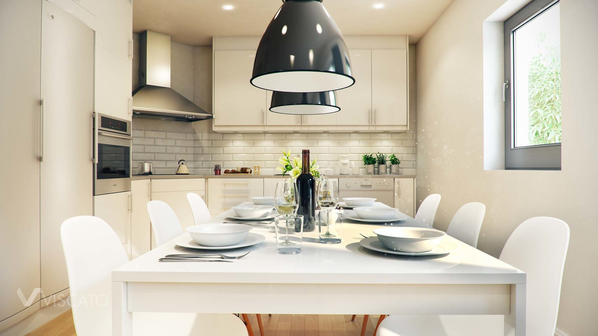 3D visualization of stylish apartment in Austria