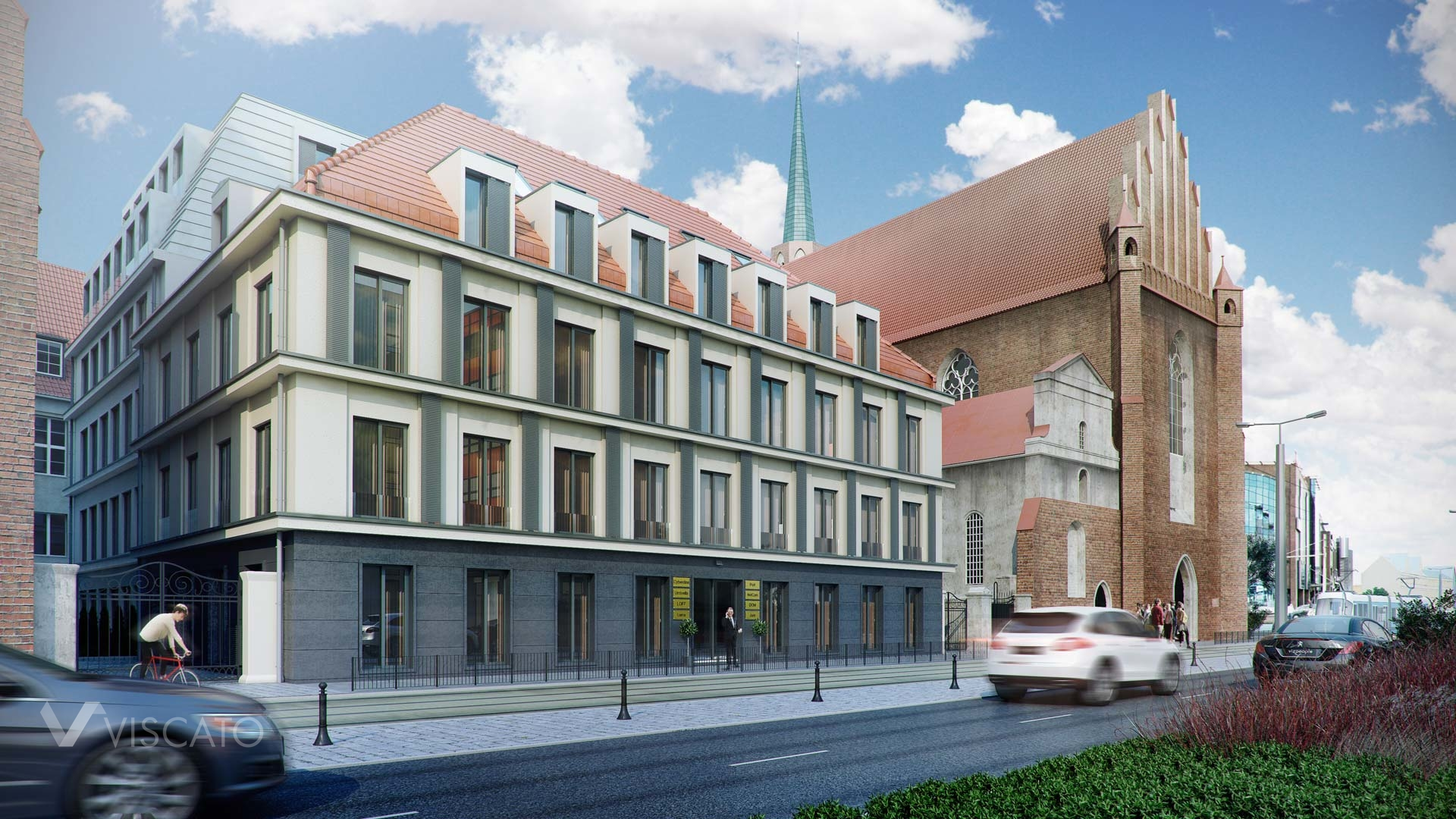 office building in Wroclaw- 3d visualisation