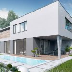single house 3D exterior visualization