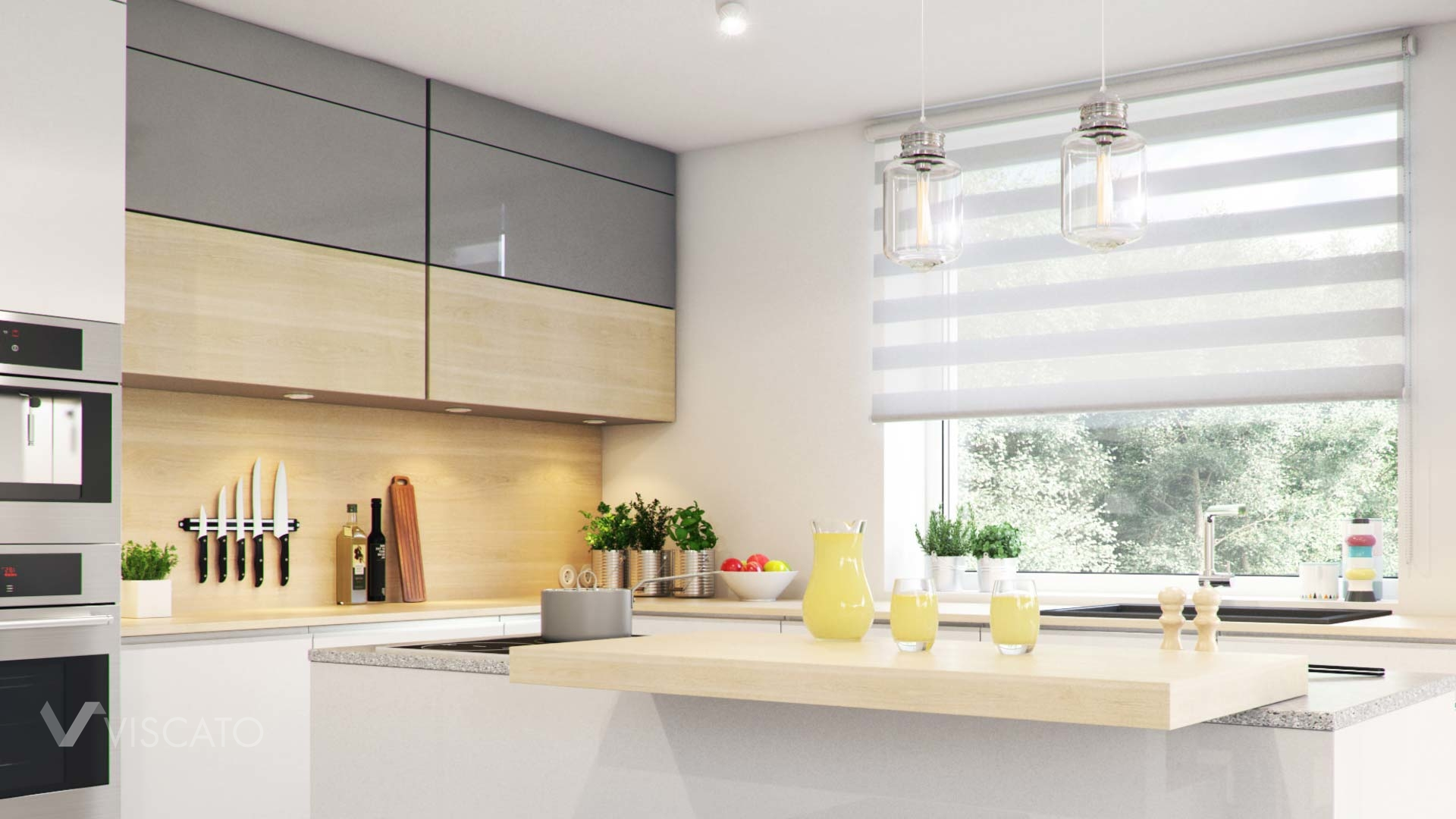3d interior visualisation of a kitchen- detailed view