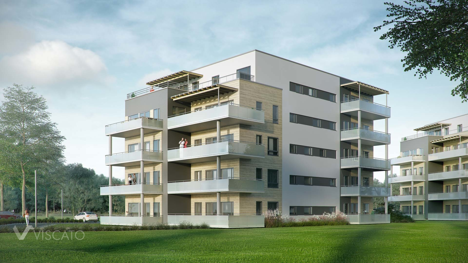 3D visualisation of a block of flats in Norway