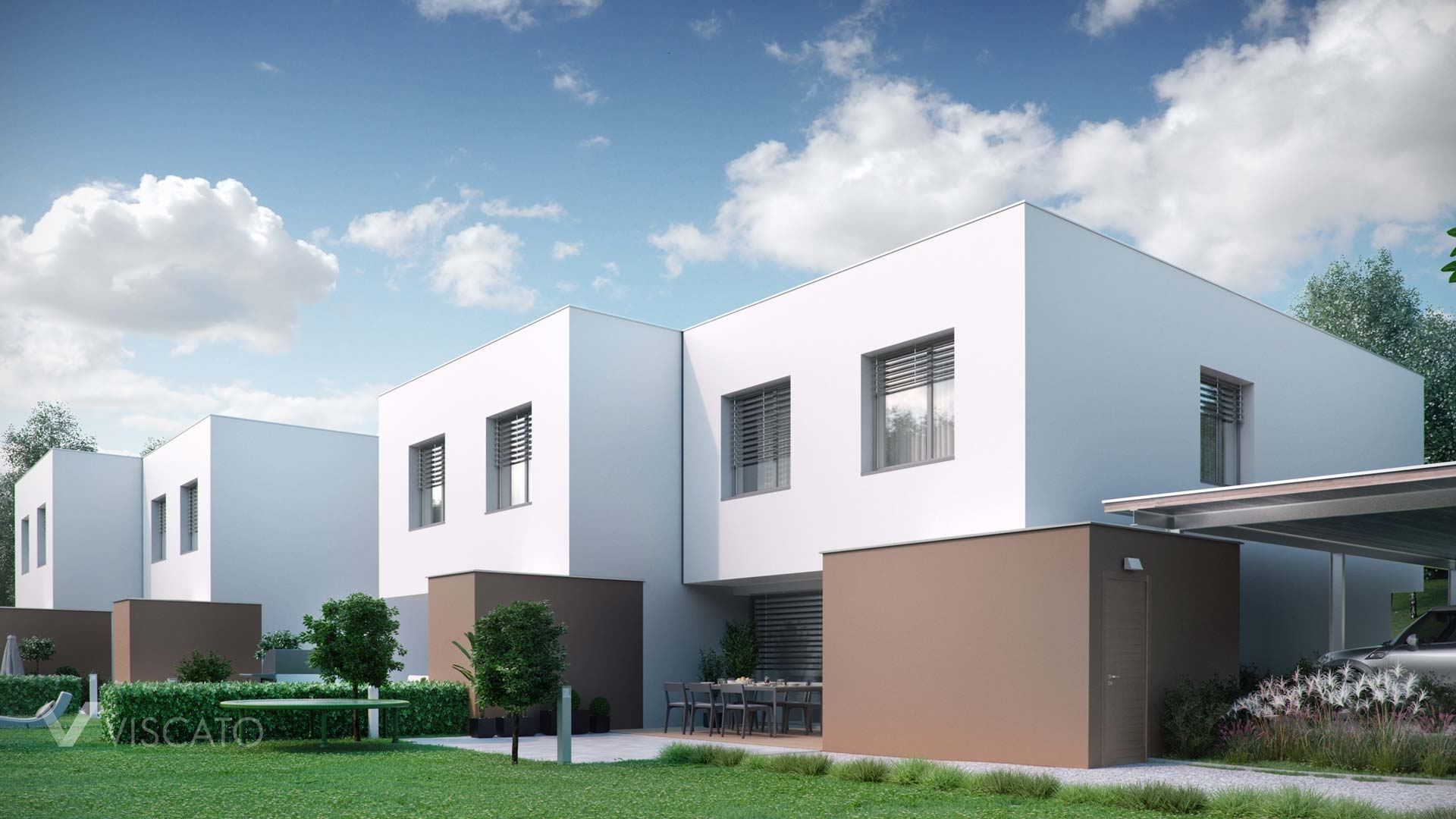 architectural visualization of a real estate in Walding, Austria
