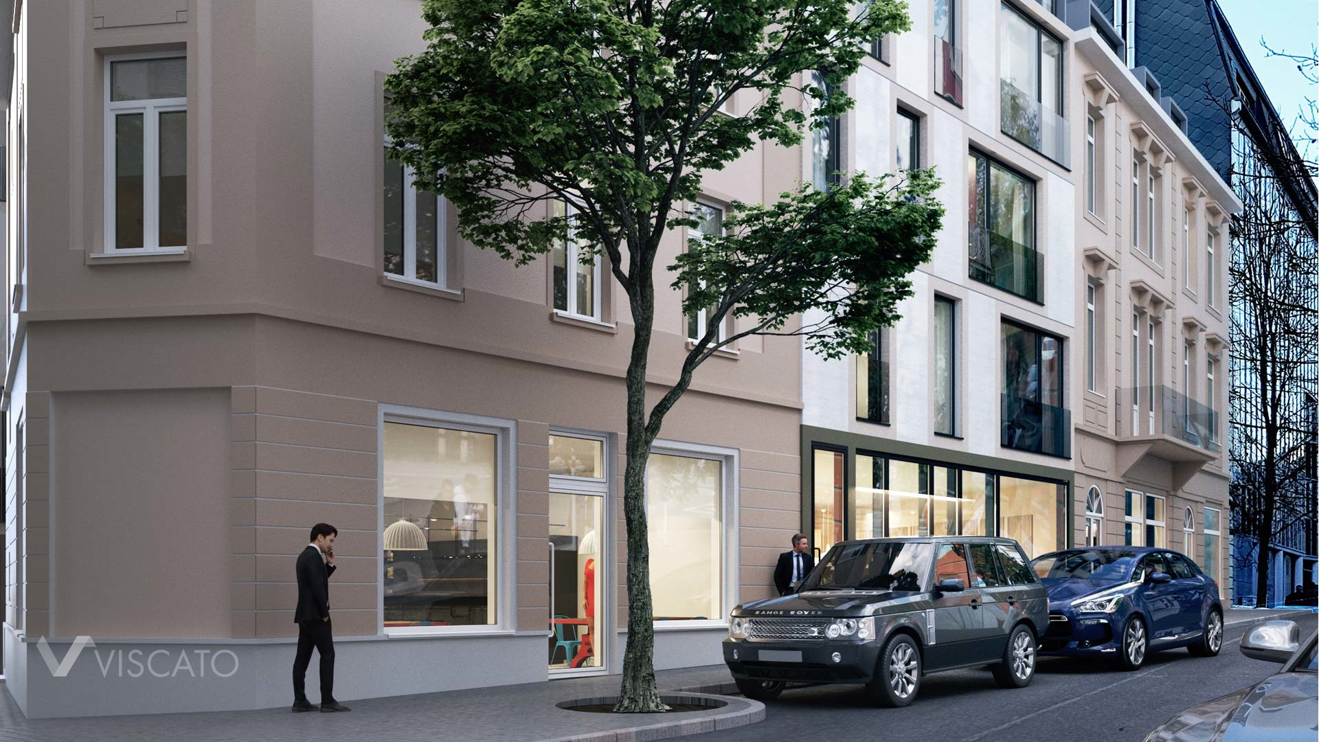 3D exterior visualization of a real estate in Luxembourg- detailed view Viscato