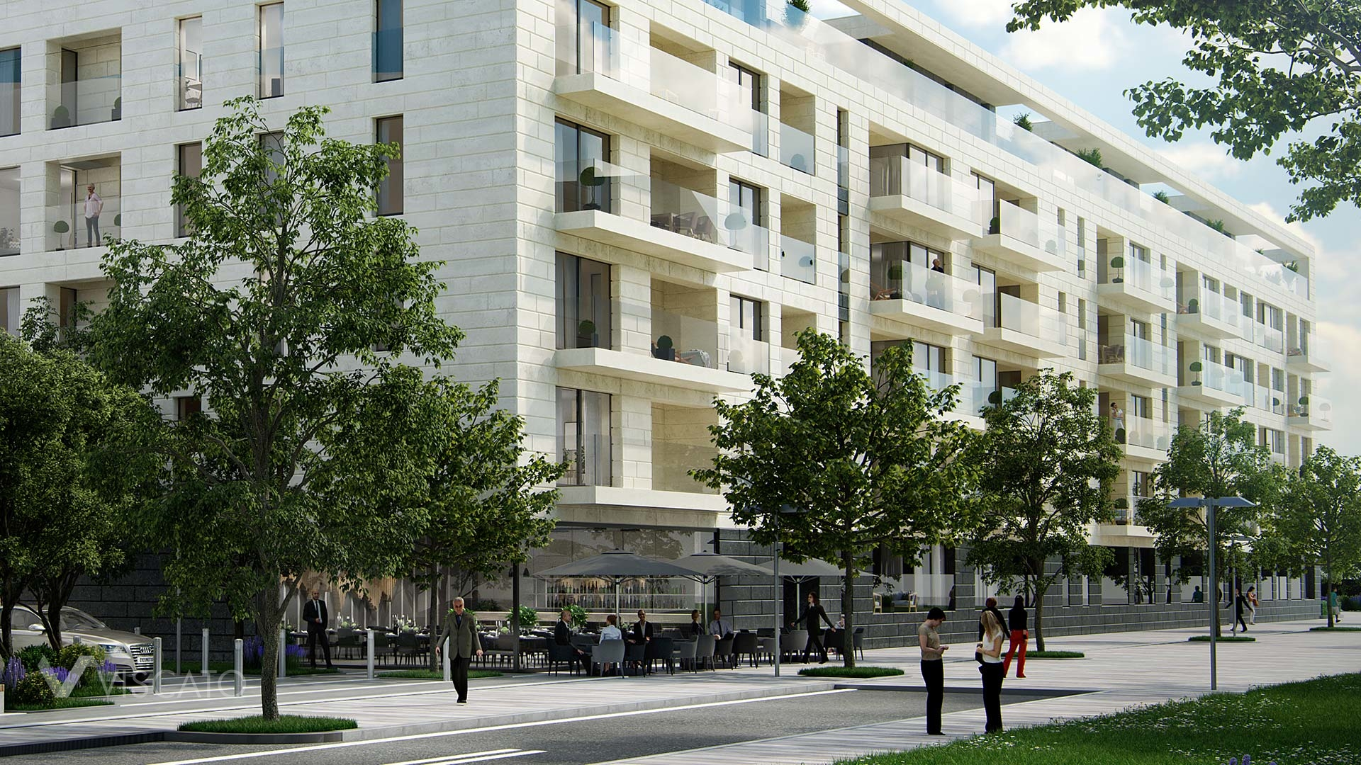 3D project of glass balconies- Luxembourg