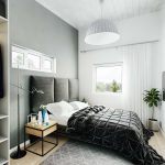 3D visualization of a cozy bedroom with modern design Viscato