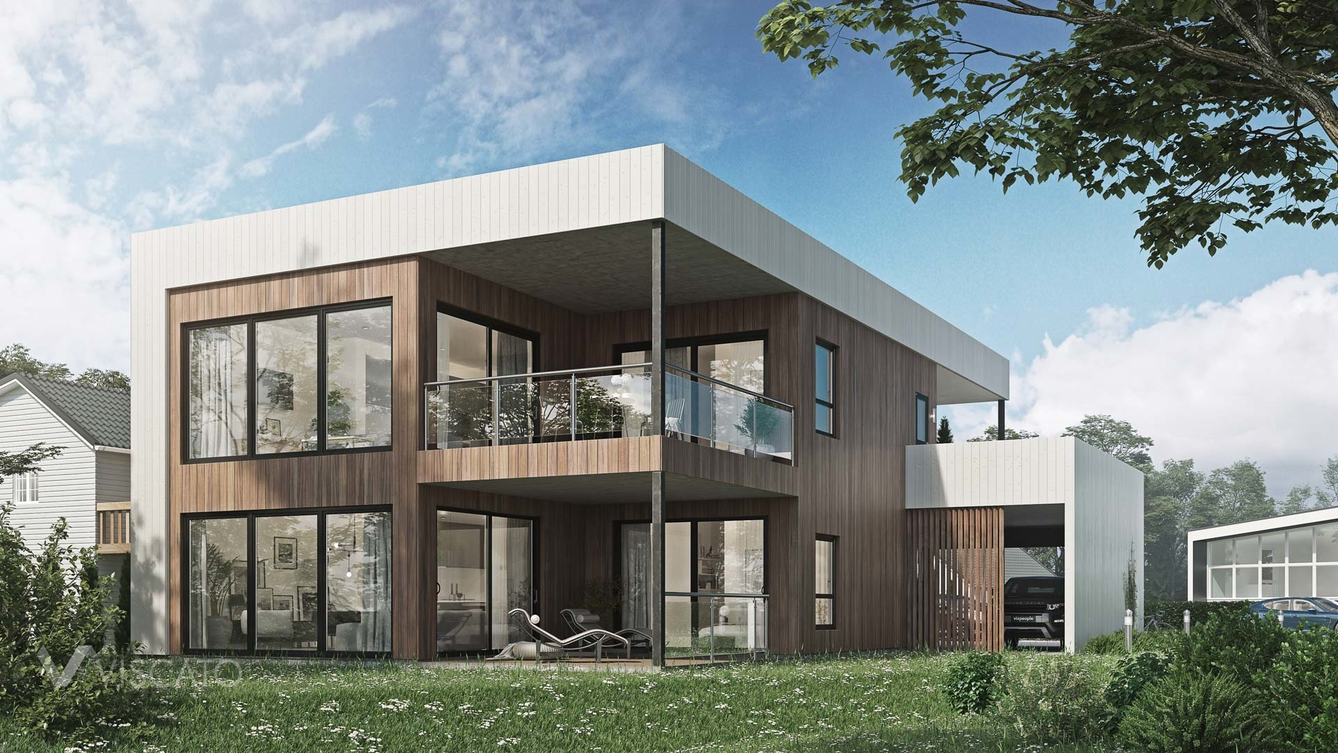 Modern House in Norway, Viscato in 3D