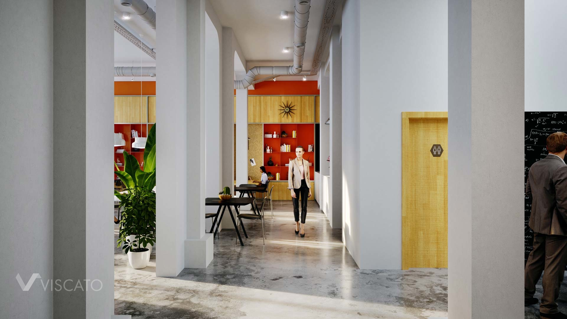 Hall in the modern office in Berlin, Viscato