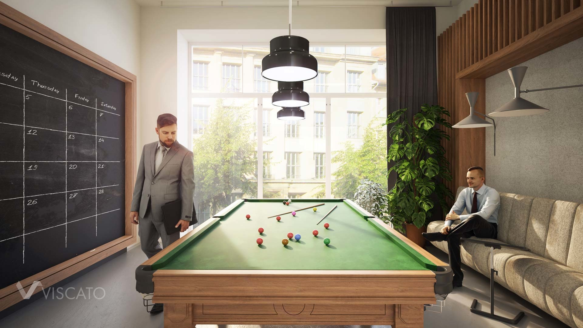 Entertainment area in an office, 3ds Max