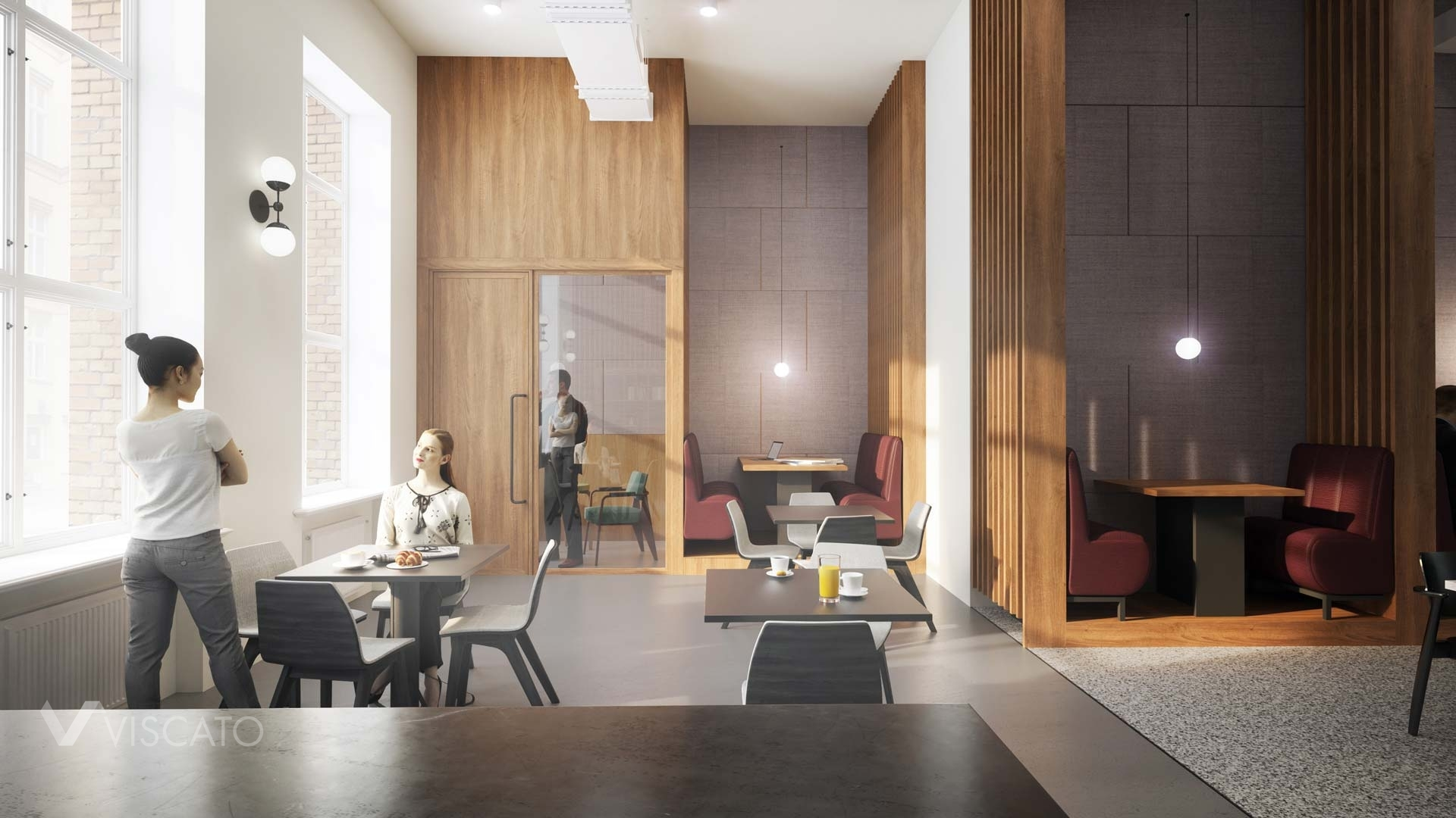 3d renderings of an office interiors