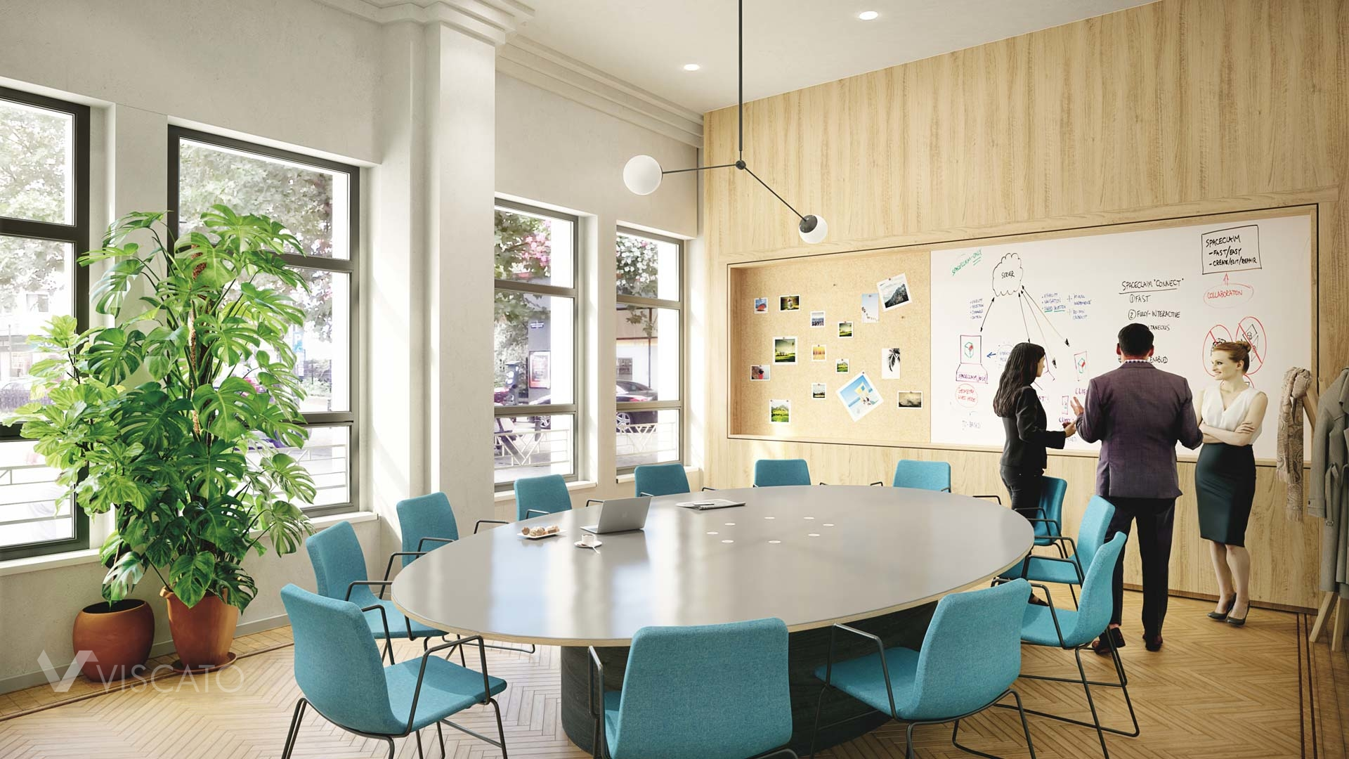 3D interior design of an office- conference room
