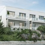 3d exterior visualization of a multi-family house in Norway