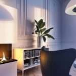 Interiors with a fireplace, Viscato