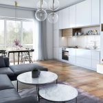 Living room in Scandinavian Style, 3D design