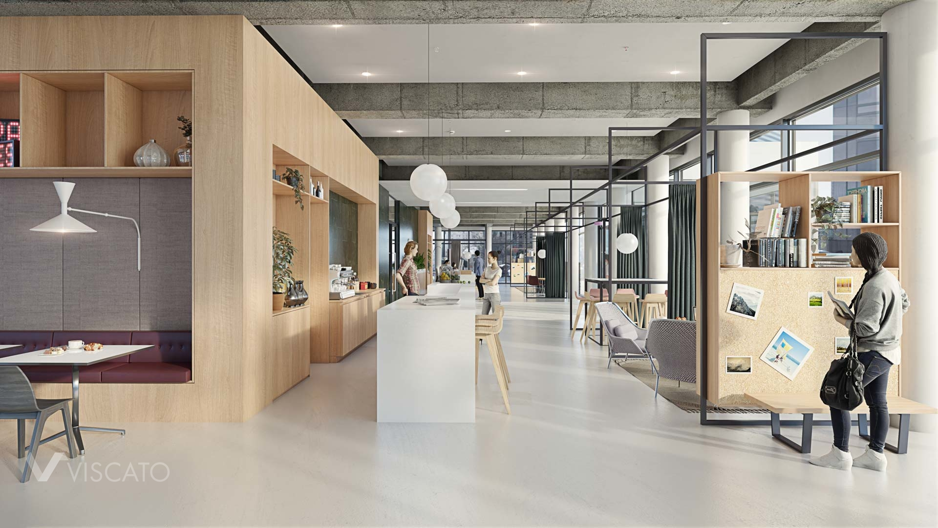 office in Hamburg, Spaces