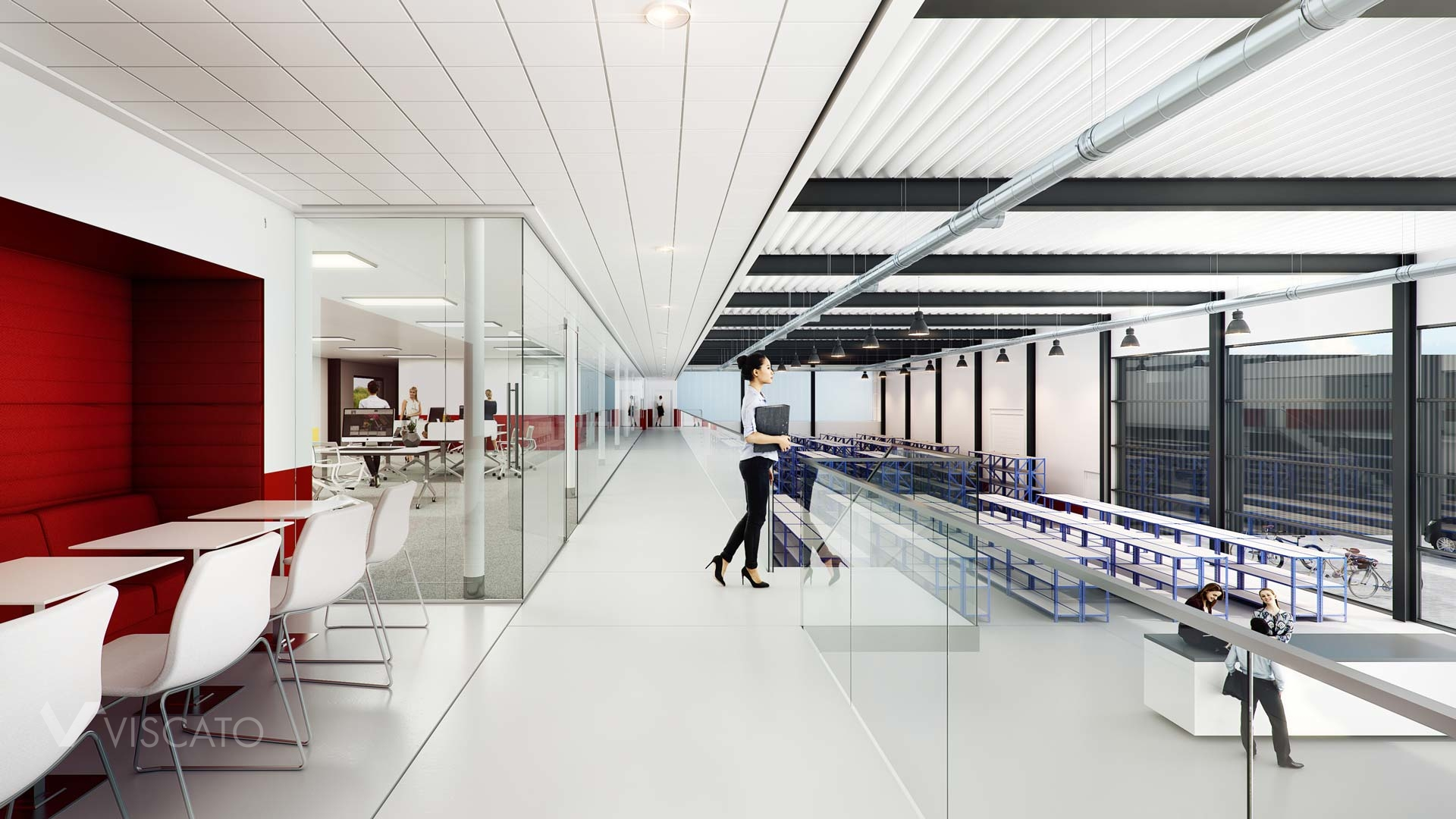 3D interiors of a company building, 3ds Max
