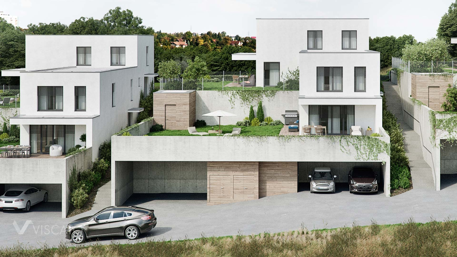 Semi-detached house, 3D visualization