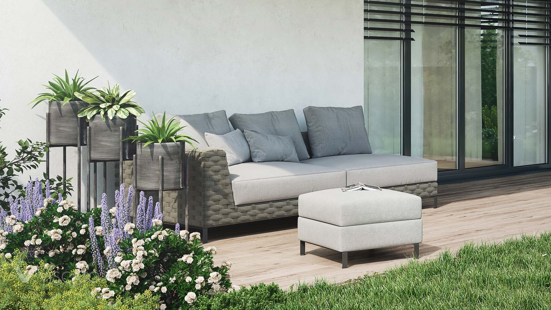 sofa on the terrace, Viscato