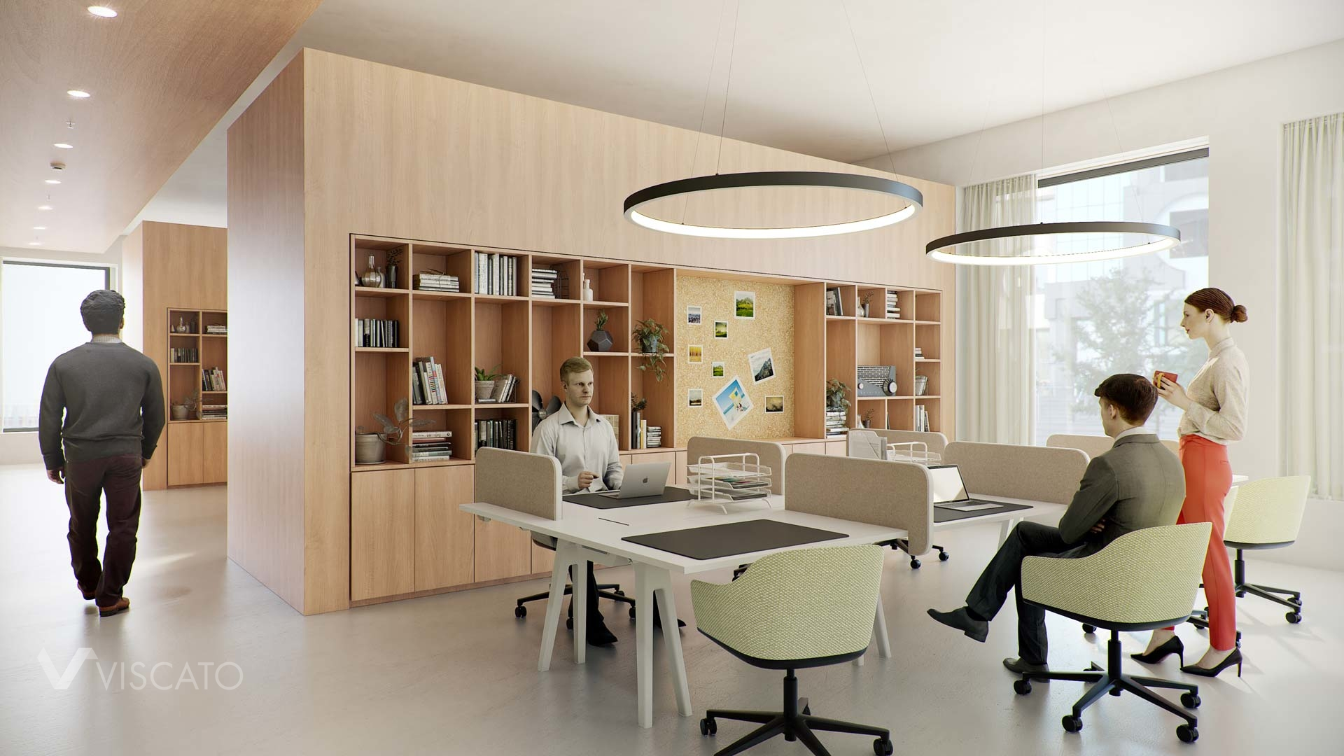 Modern workspace in the Spaces Office, Viscato