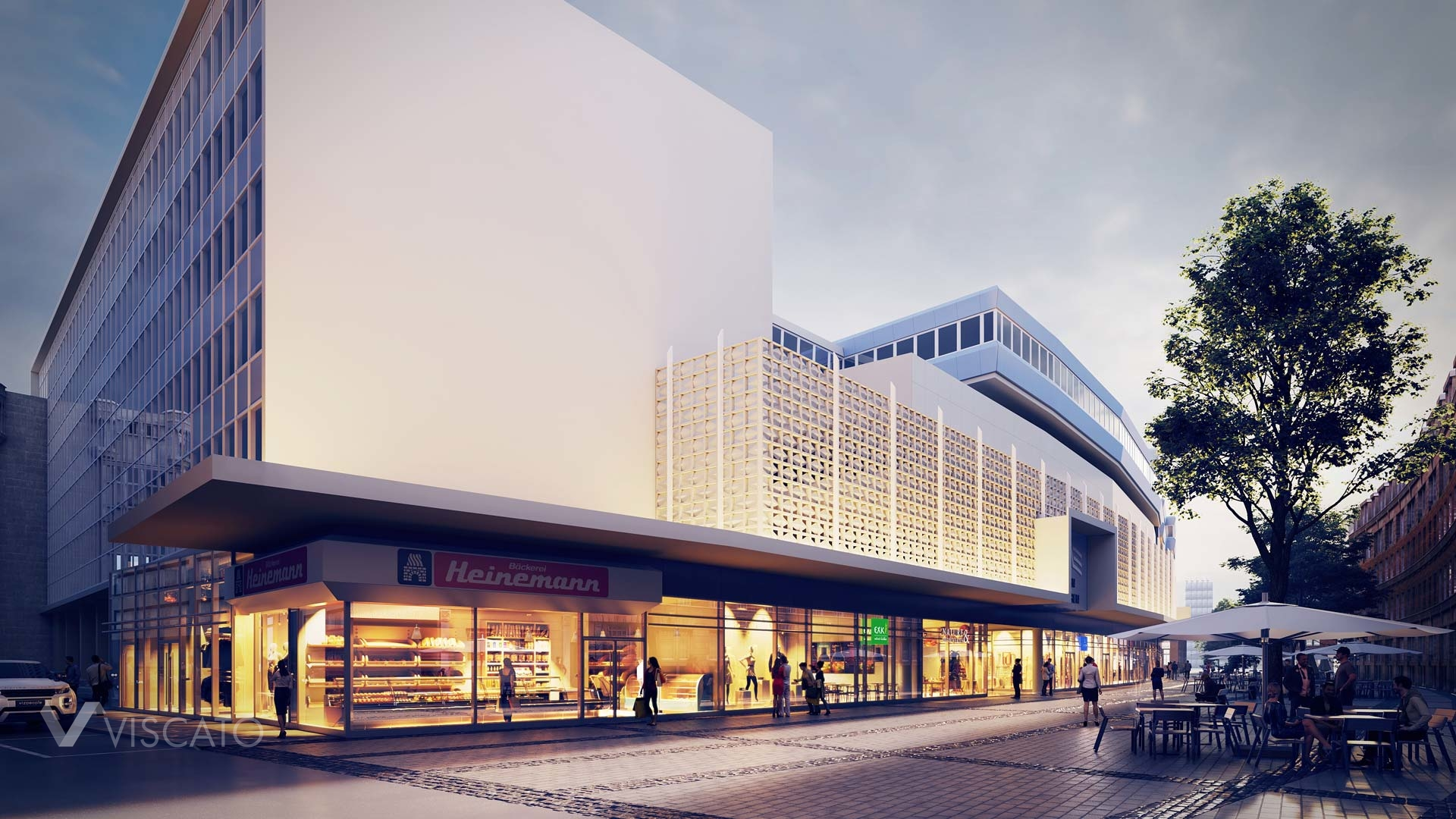 3D mall with open work facade, Viscato