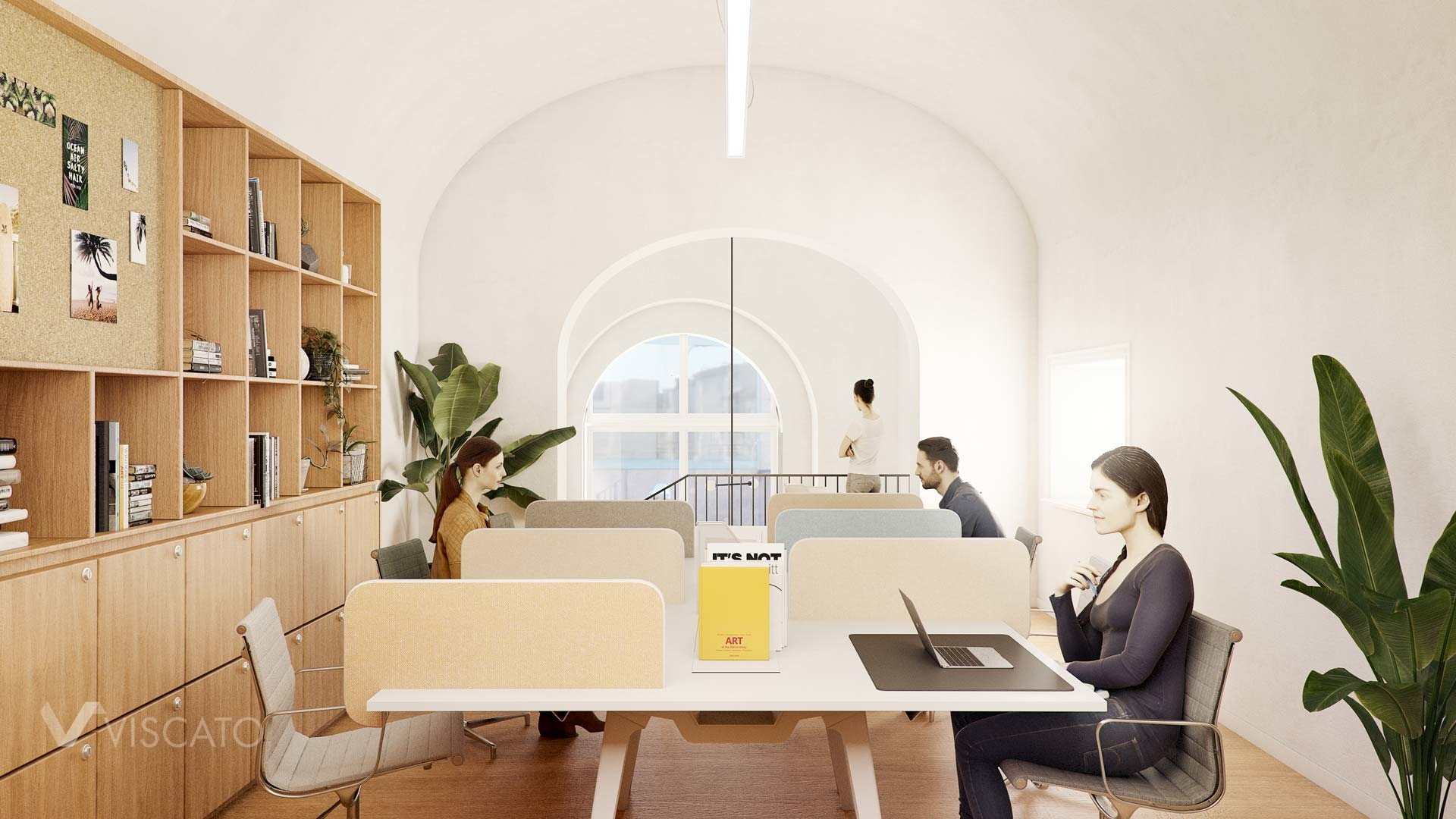 Modern office in Rome, 3ds max