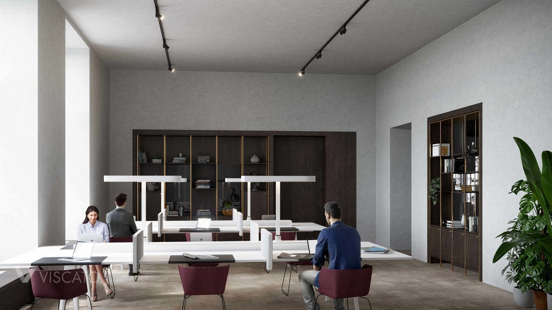 open space area of the office, 3d rendering