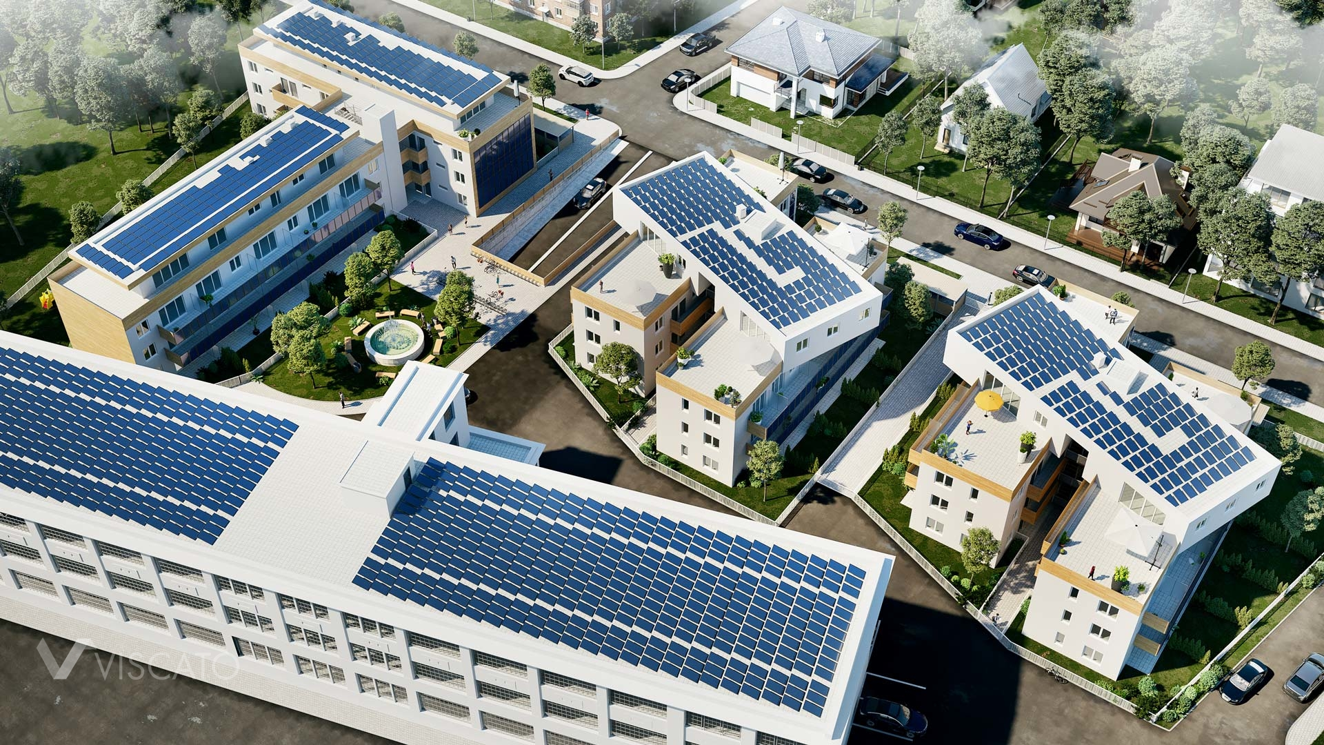 photovoltaic panels in 3D, Viscato