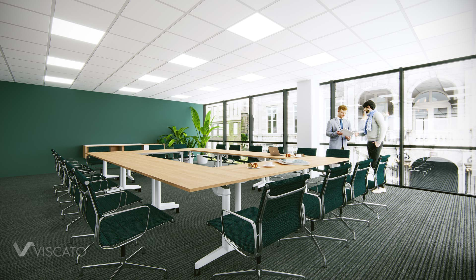 Green conference room, Viscao 3D