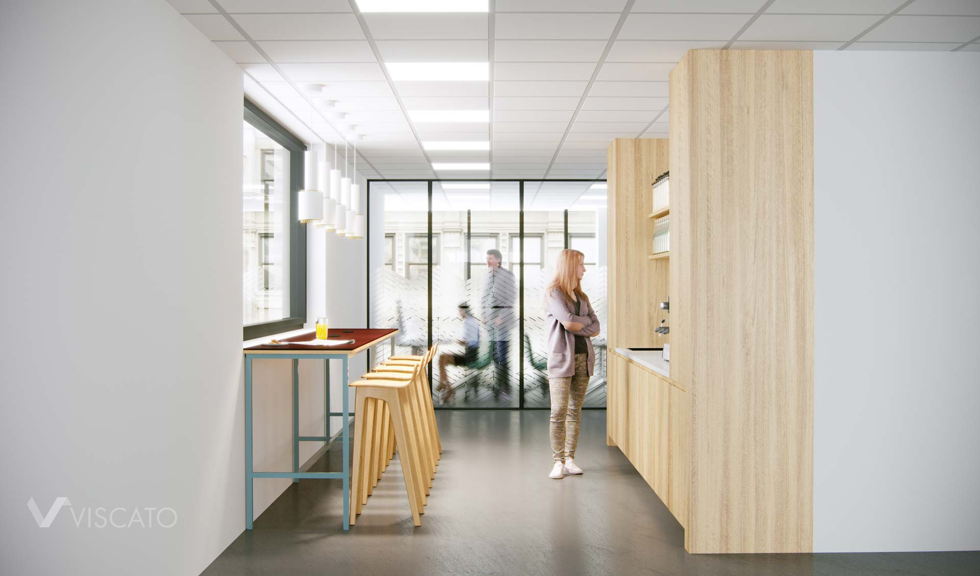 Kitchen in the office, Viscato 3D