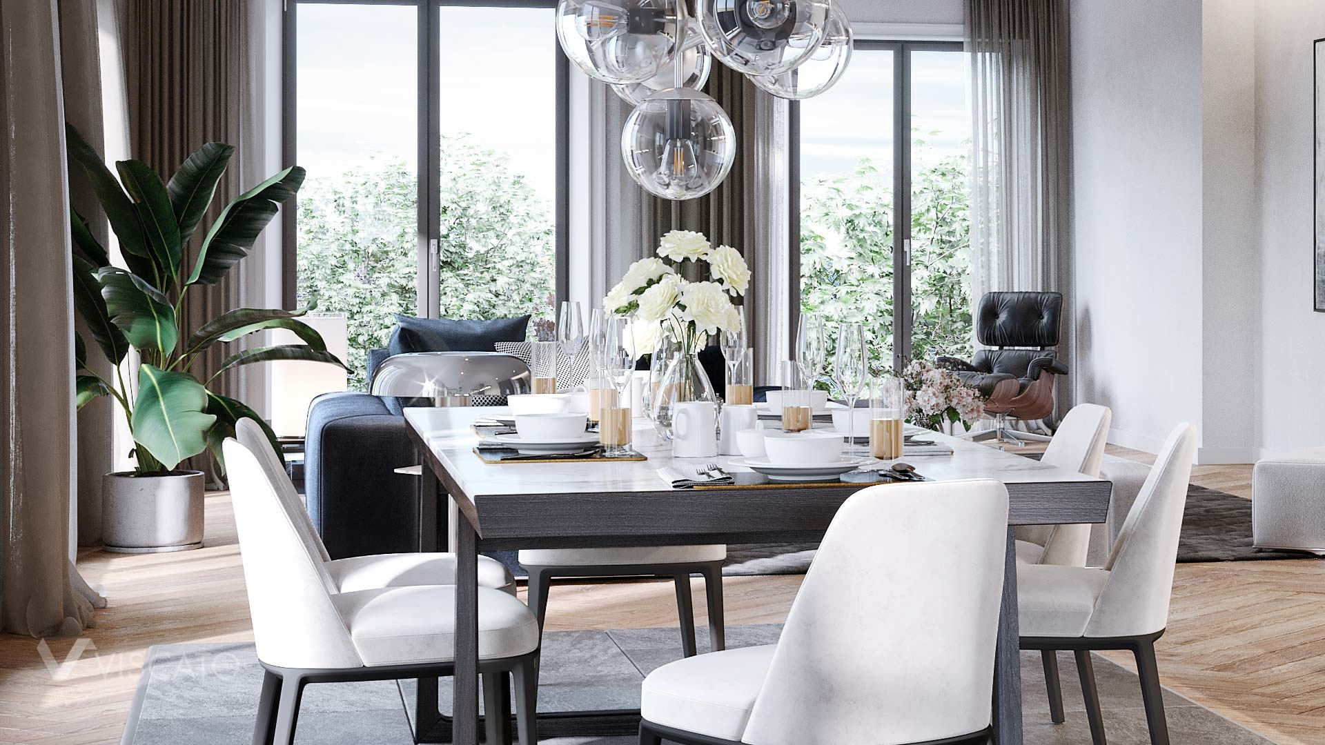 modern dining table, Viscato