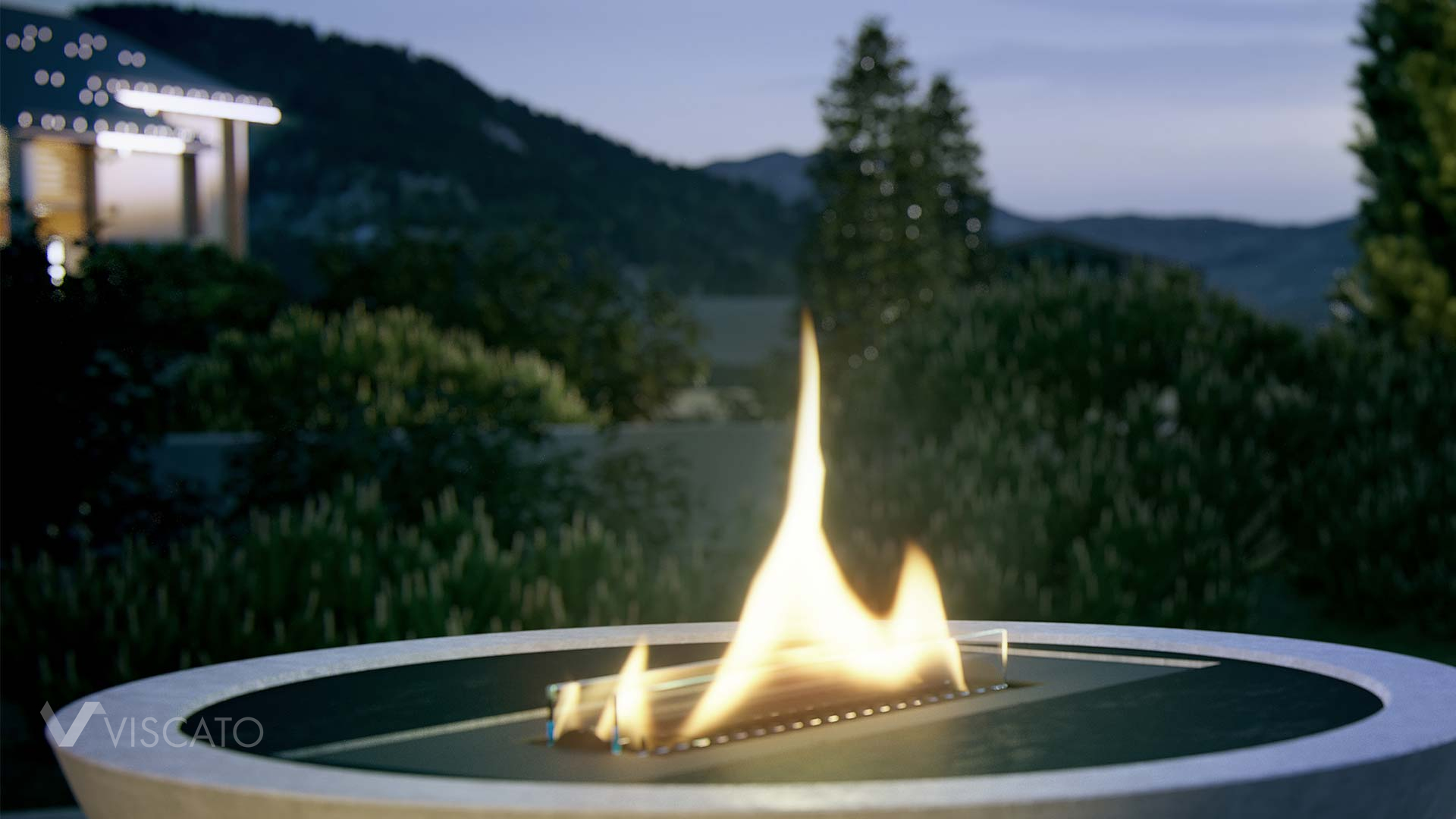 eco-friendly terrace burner - detail, Viscato 3D
