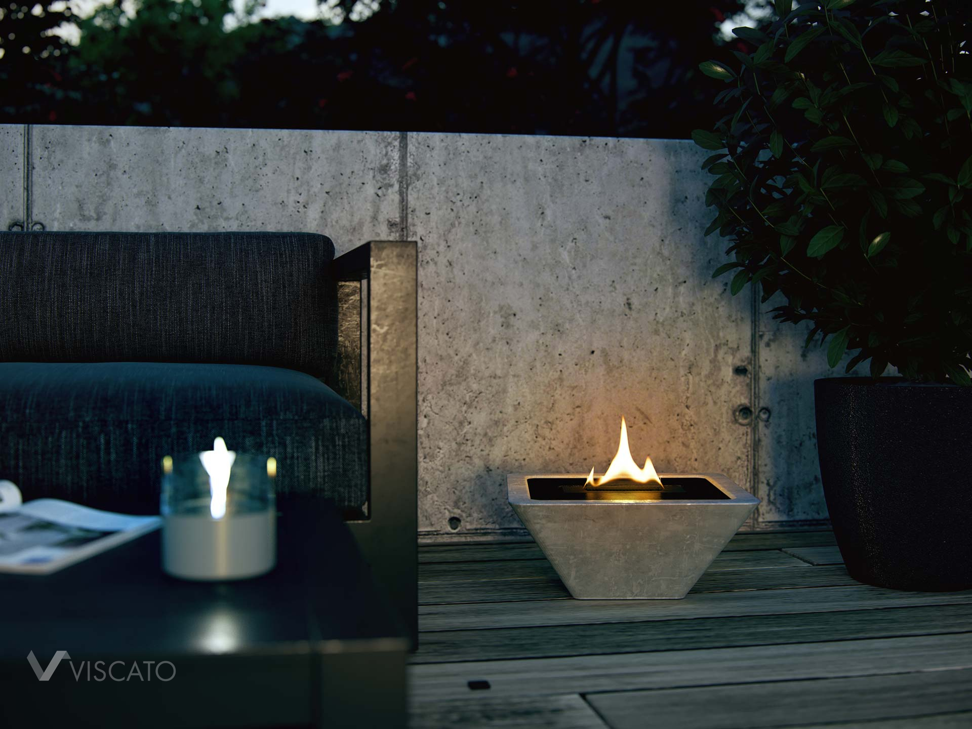 eco-friendly terrace burner, Viscato 3D