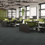 carpet tiles for the open space office, Viscato 3D