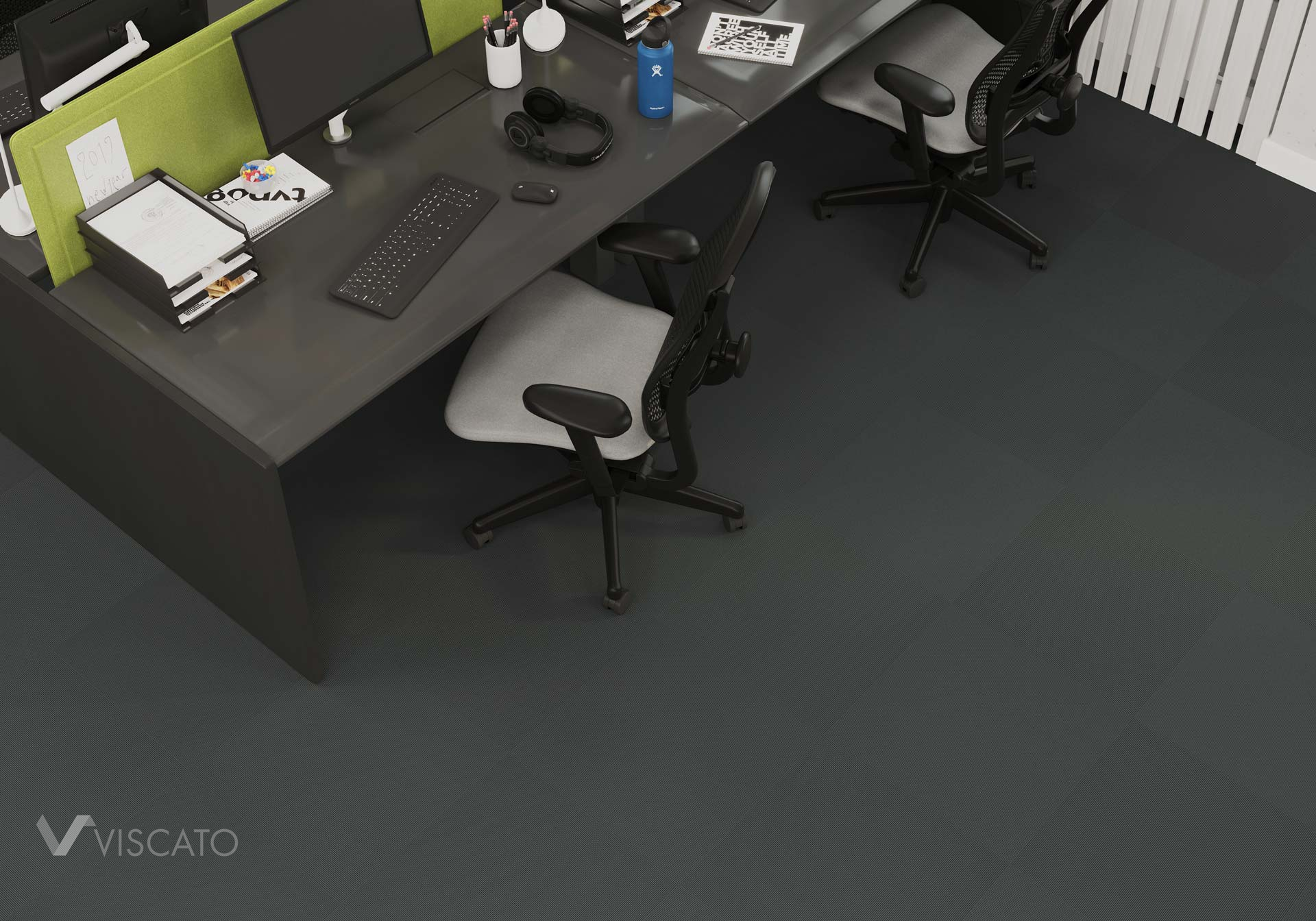 carpet visualization in office interior, 3Ds max