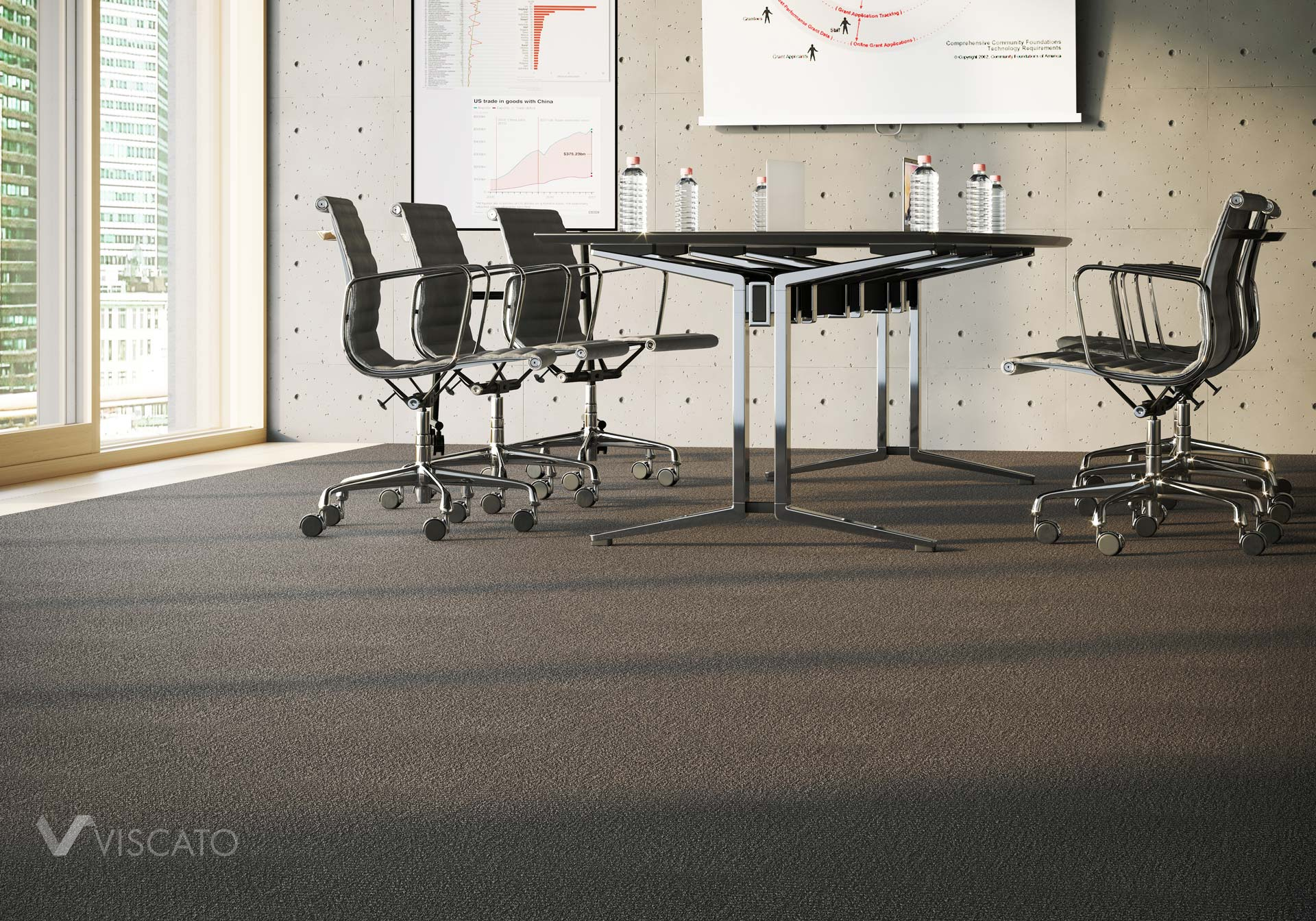 carpet 3D product visualization, Viscato