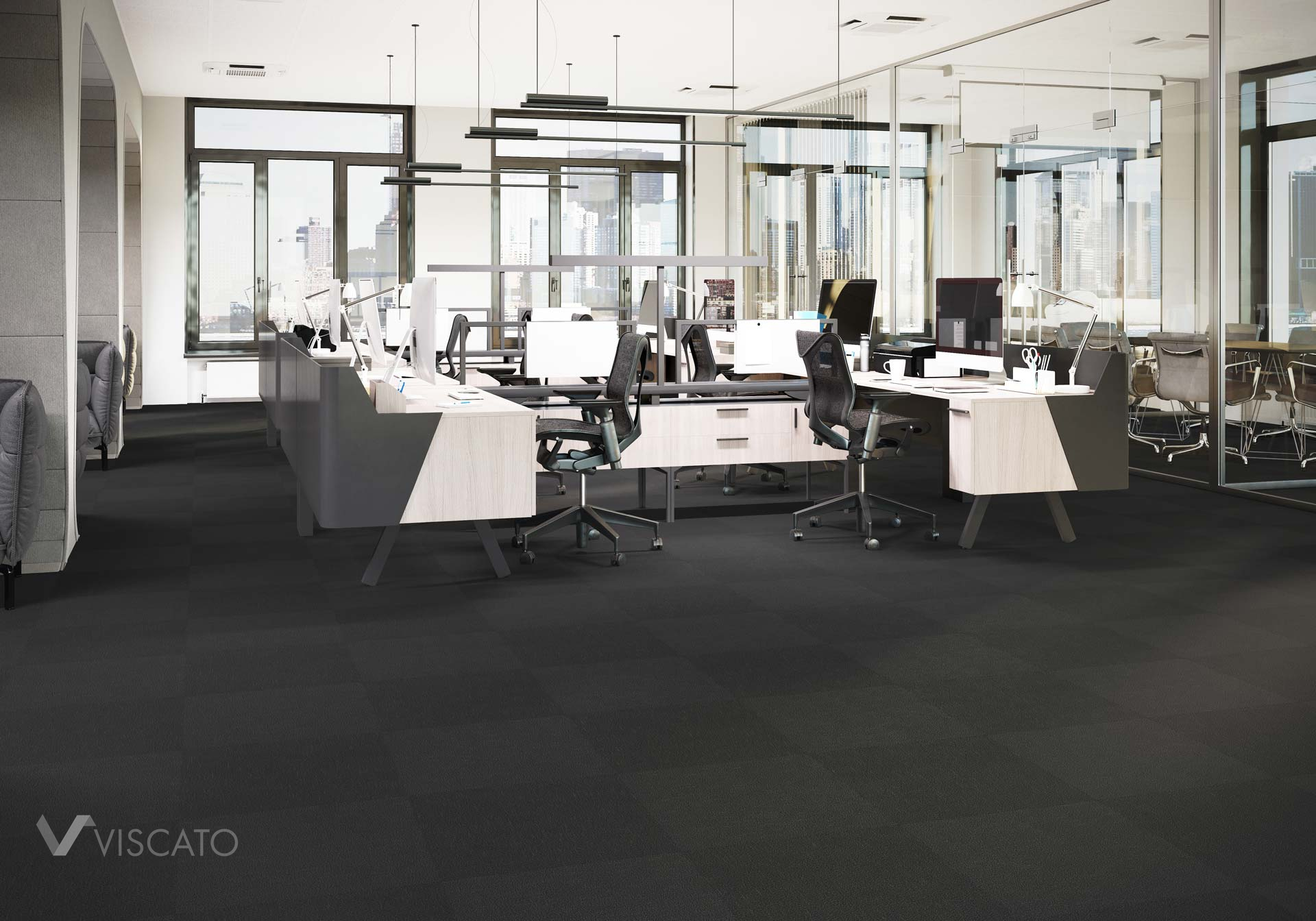 modern office carpet, 3D product rendering