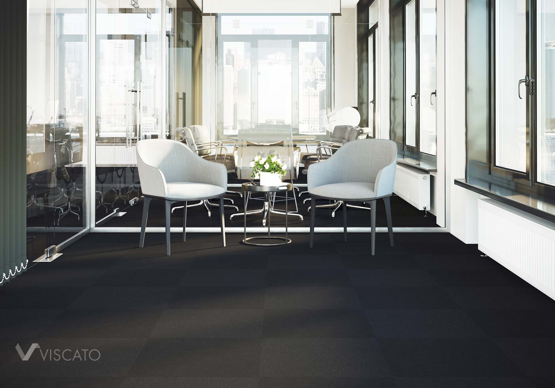 modern carpet tiles for the office purposes- 3D renders