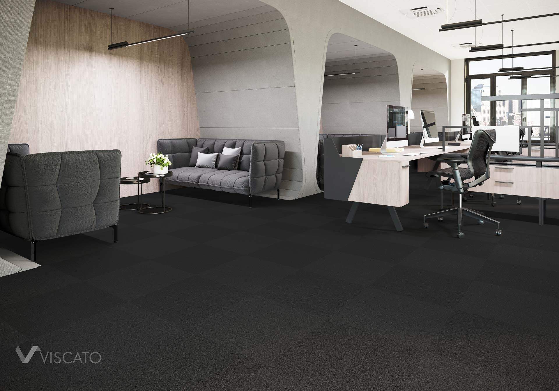 carpet tiles- 3D product rendering