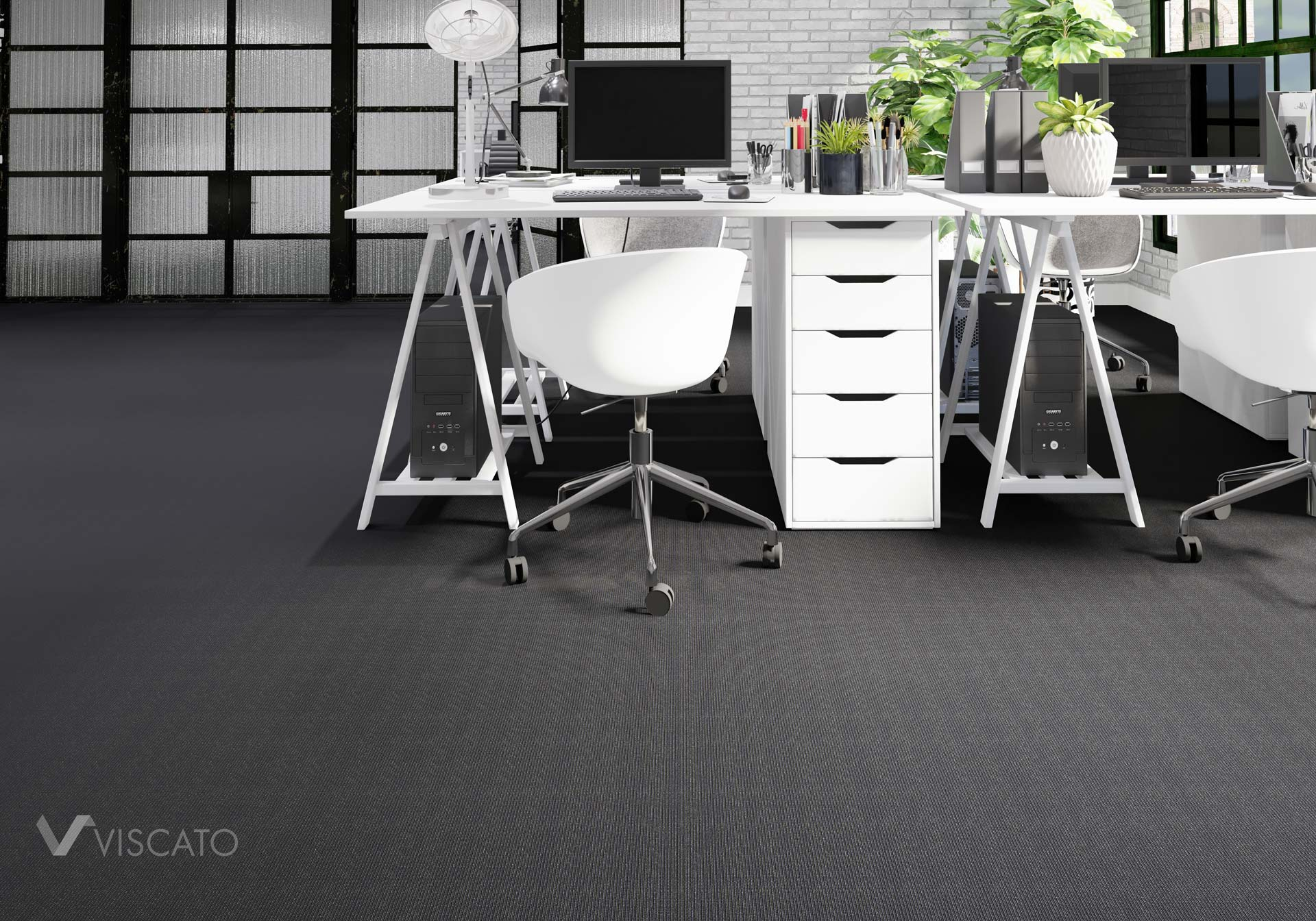 dark carpet in the office, Viscato 3D