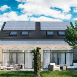 3d solar panels on the roof, Viscato 3D