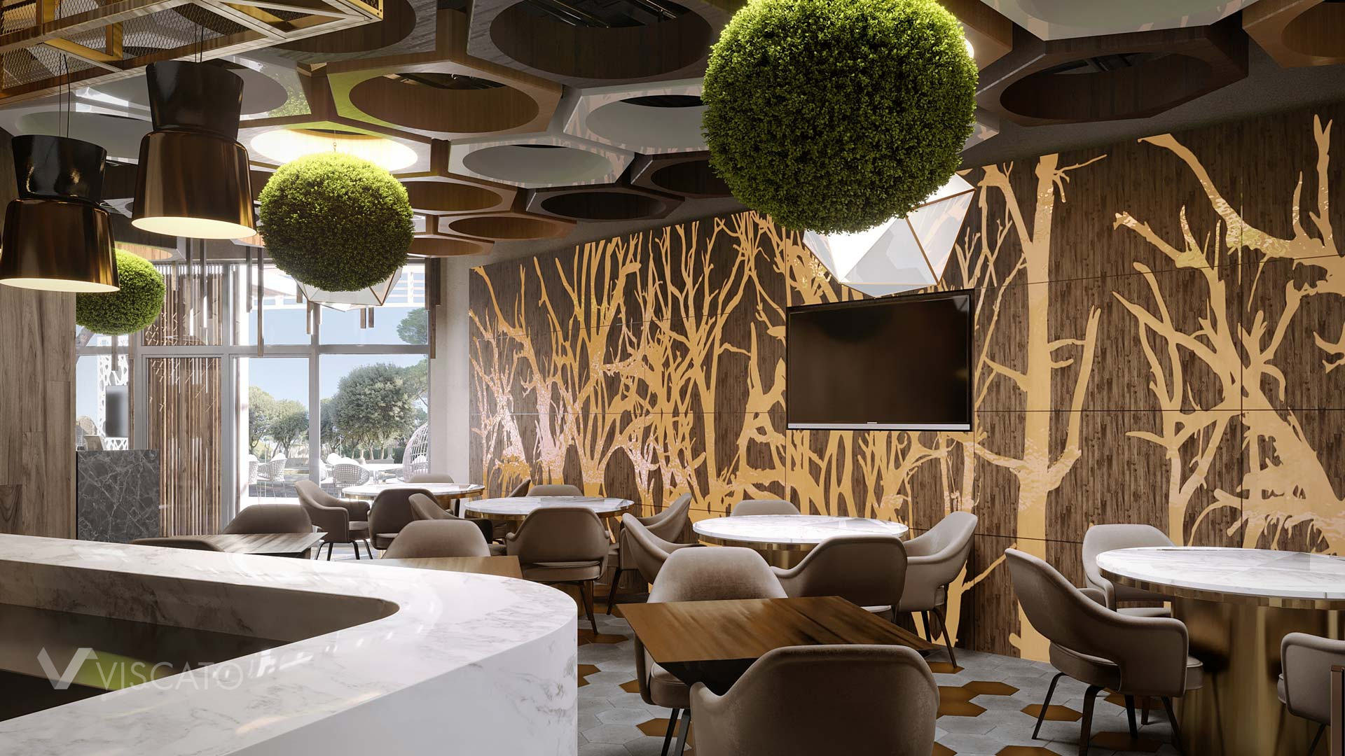 fine dining restaurant interiors, 3ds Max