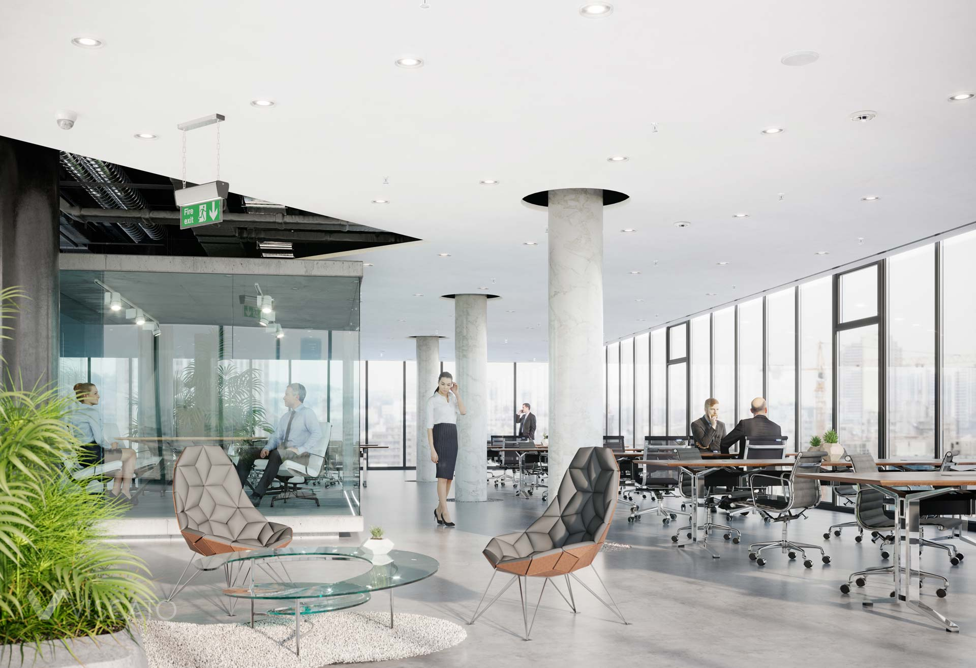 Armstrong ceiling solutions, 3D visualization