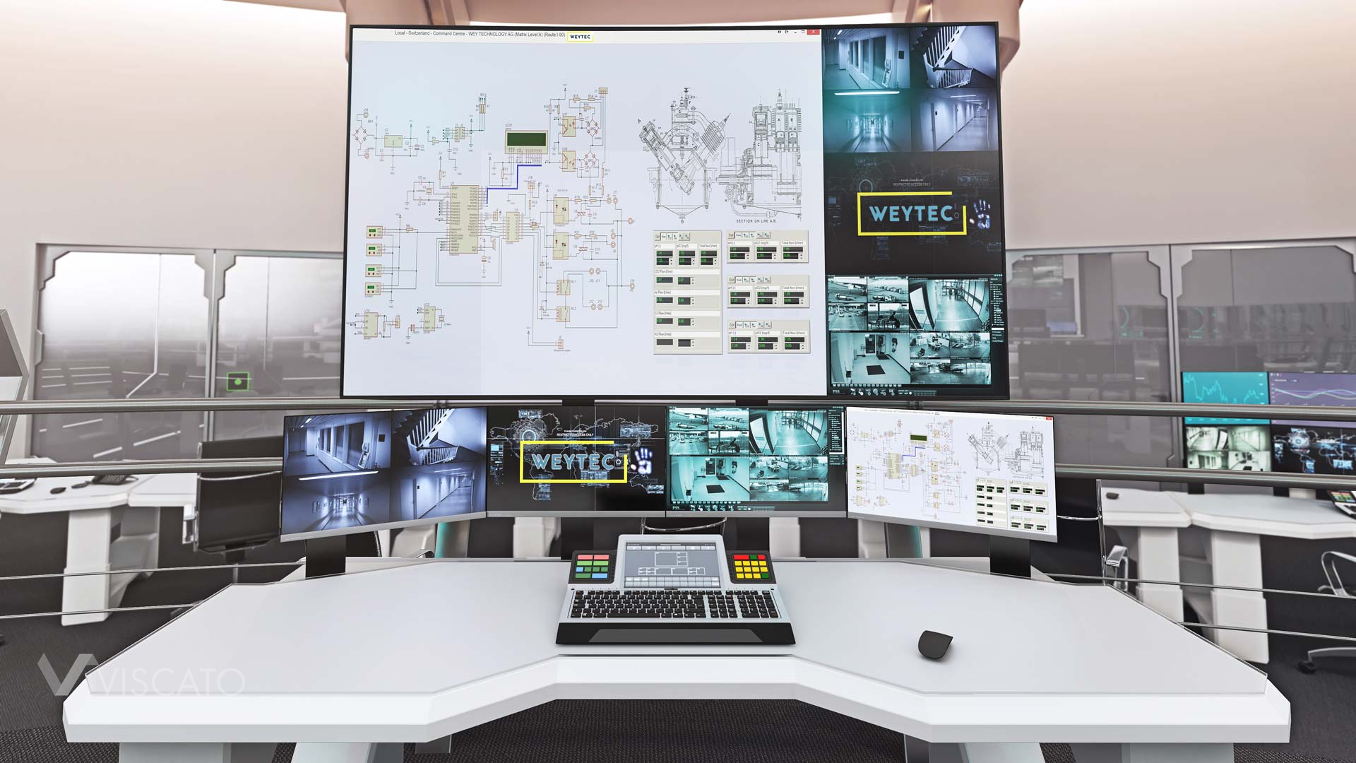 work station by WEY ELEKTRONIK, 3d visualization