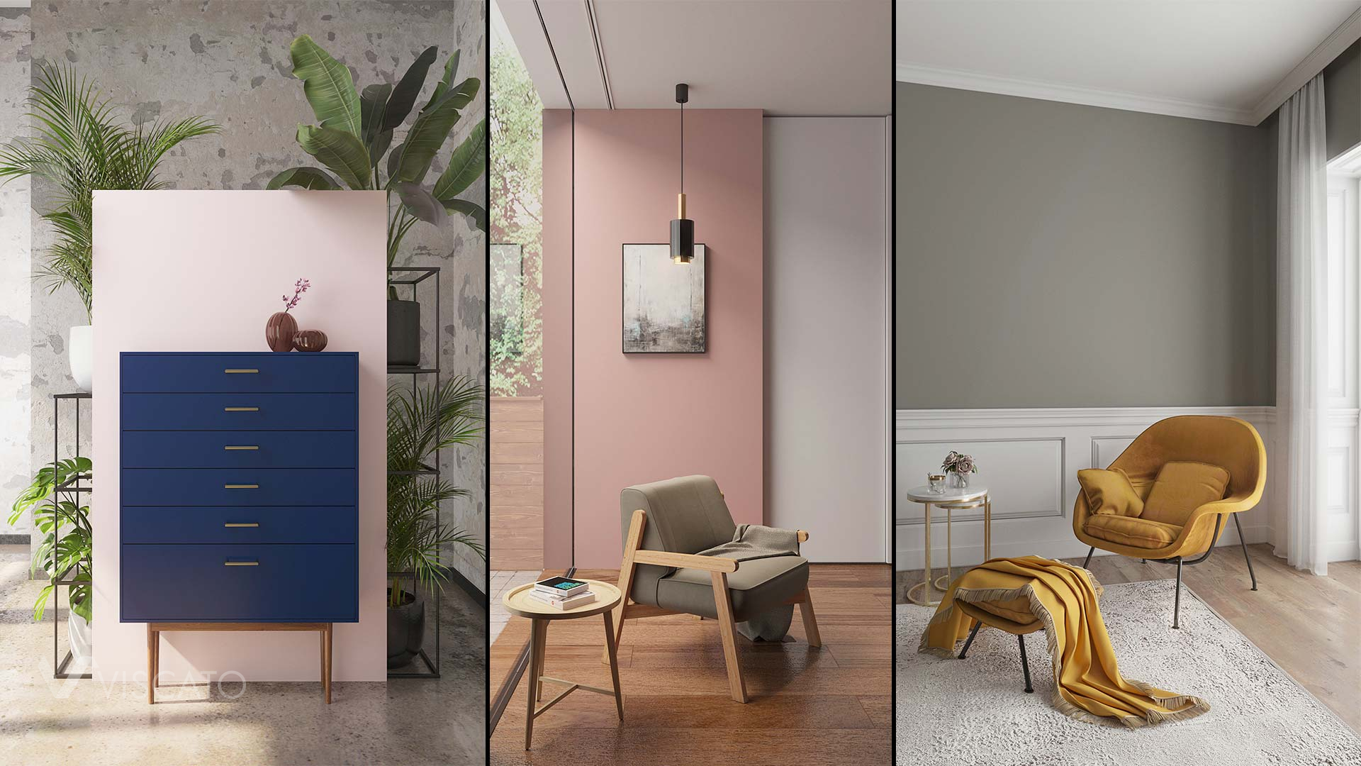 Styled compact furniture, Viscato 3D