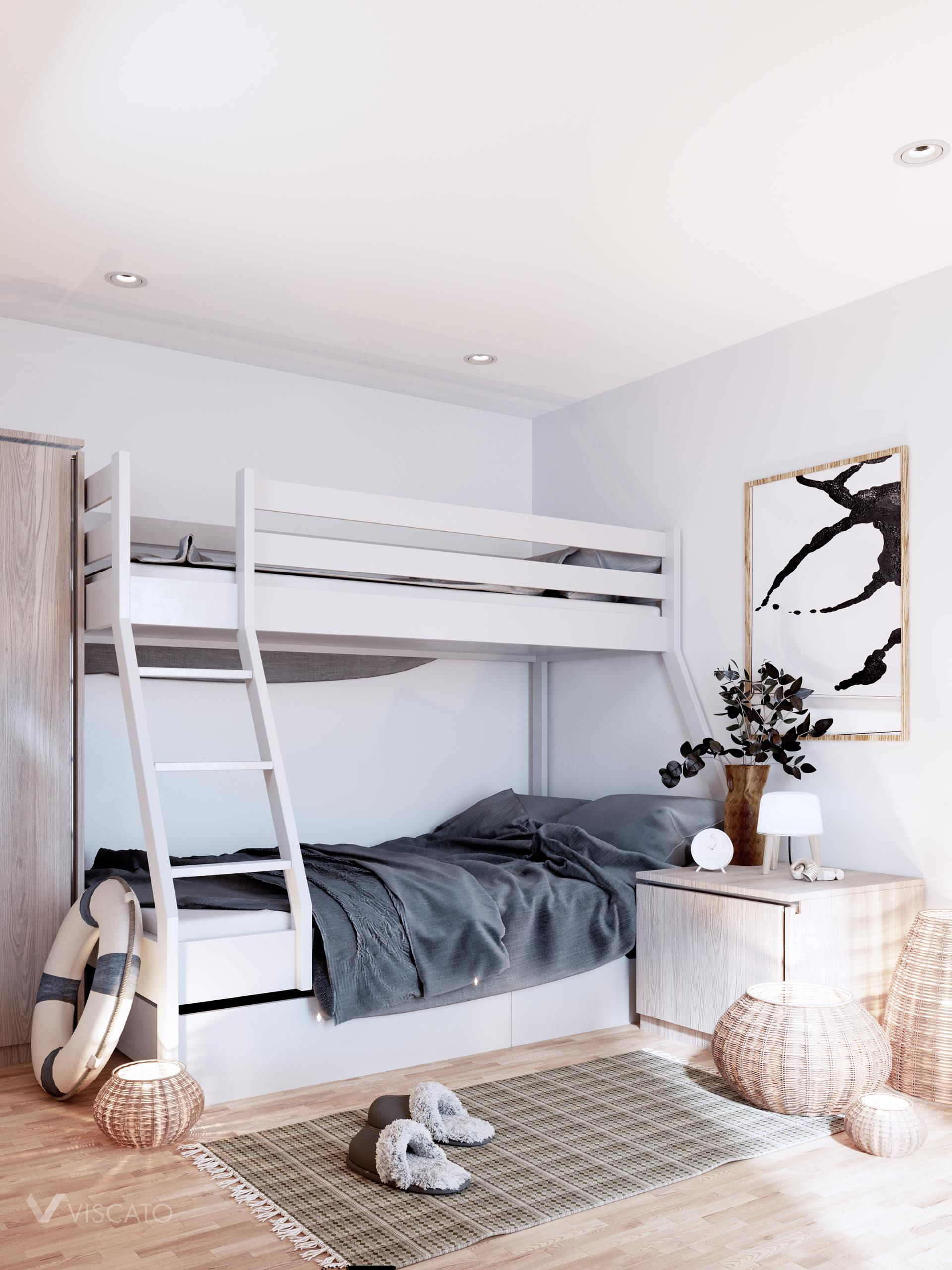 Two-story bed, Viscato 3D