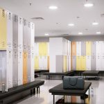 Colorful lockers, 3D visualization