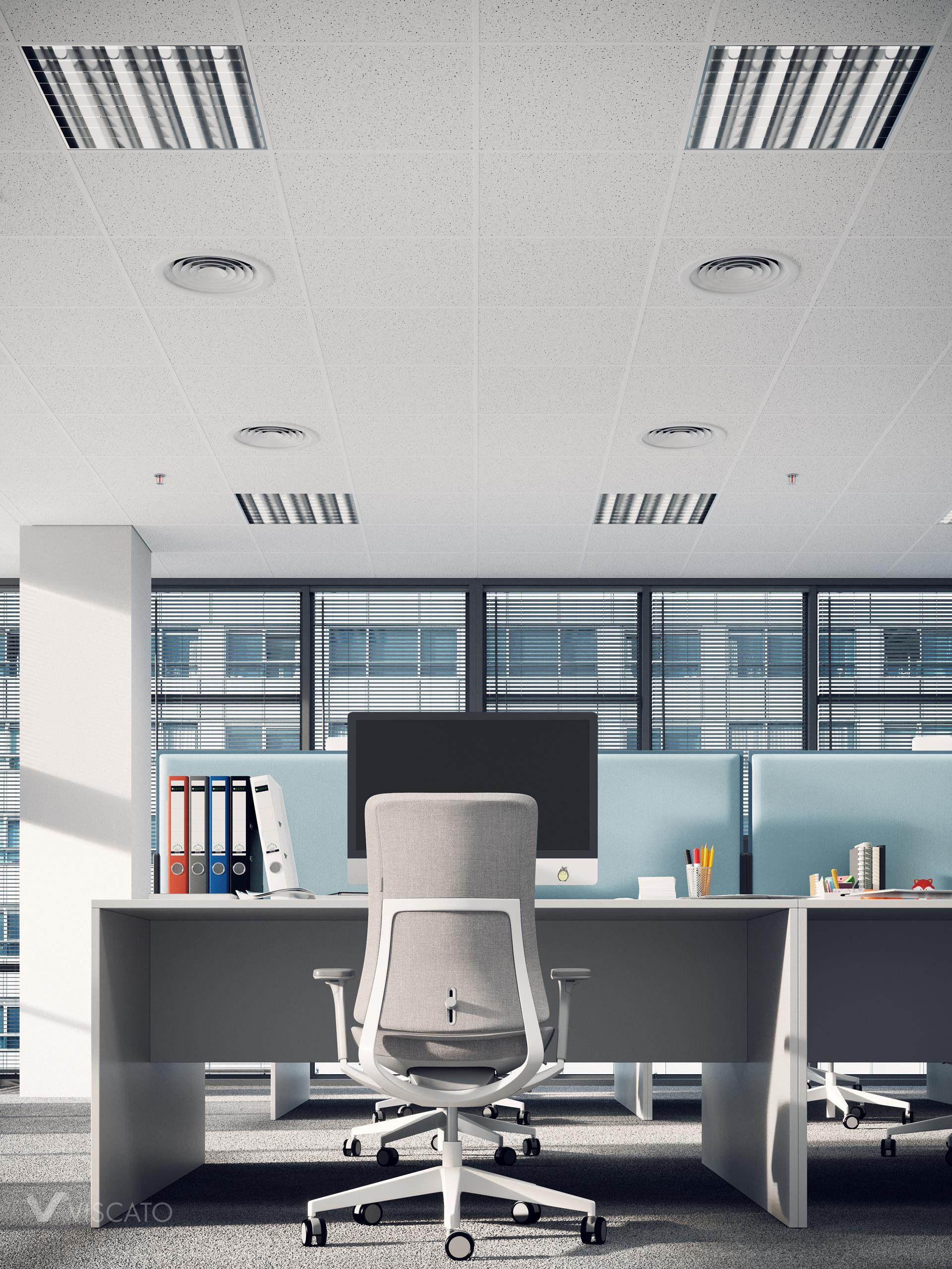 Office table, 3D rendering